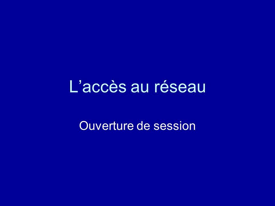 L'accès au réseau Ouverture de session
