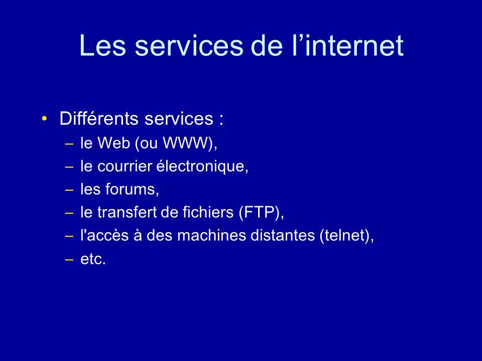 Les services de l'internet