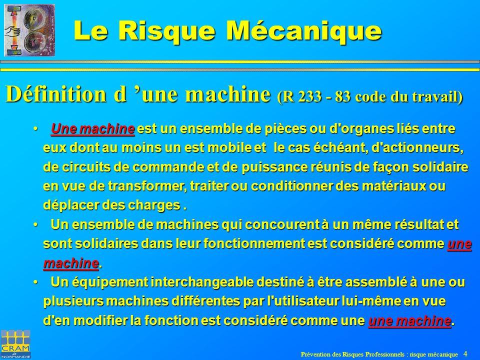 Définition d 'une machine (R 233 - 83 code du travail)