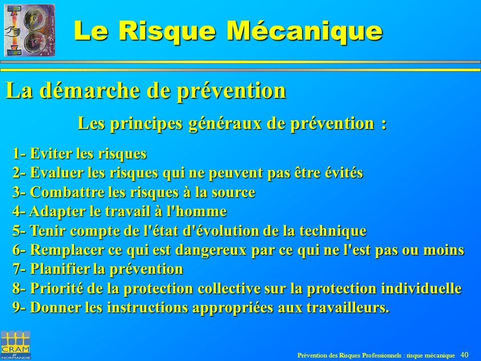 La démarche de prévention