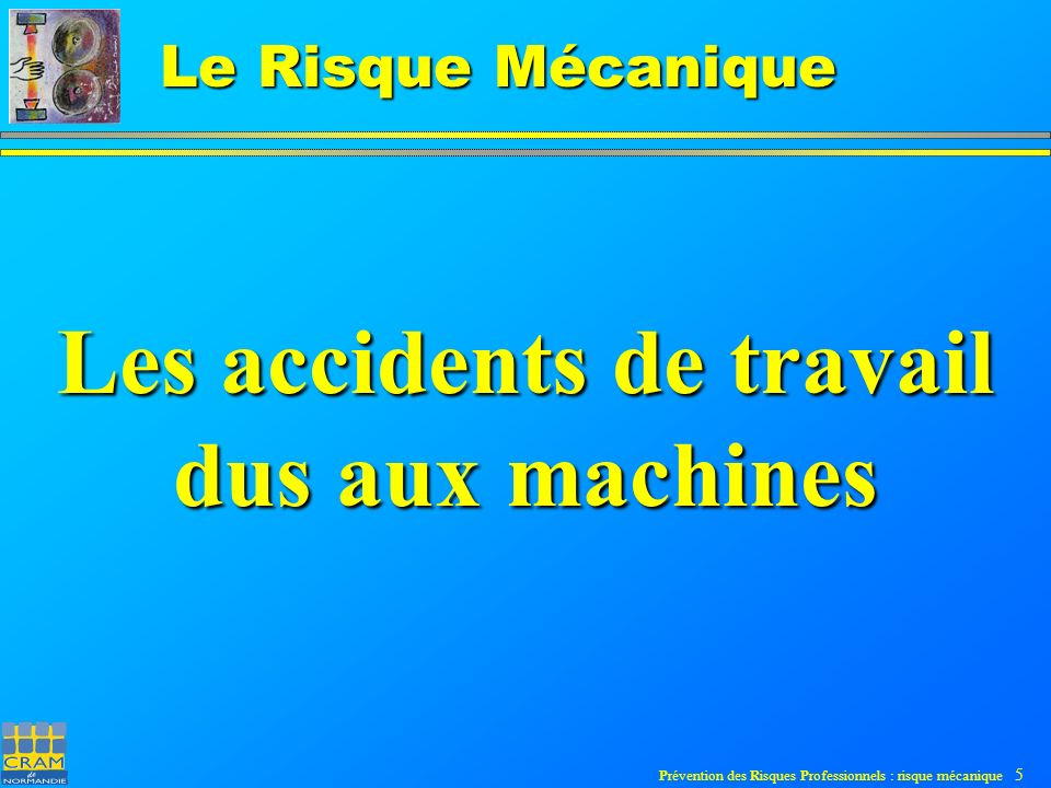 Les accidents de travail dus aux machines