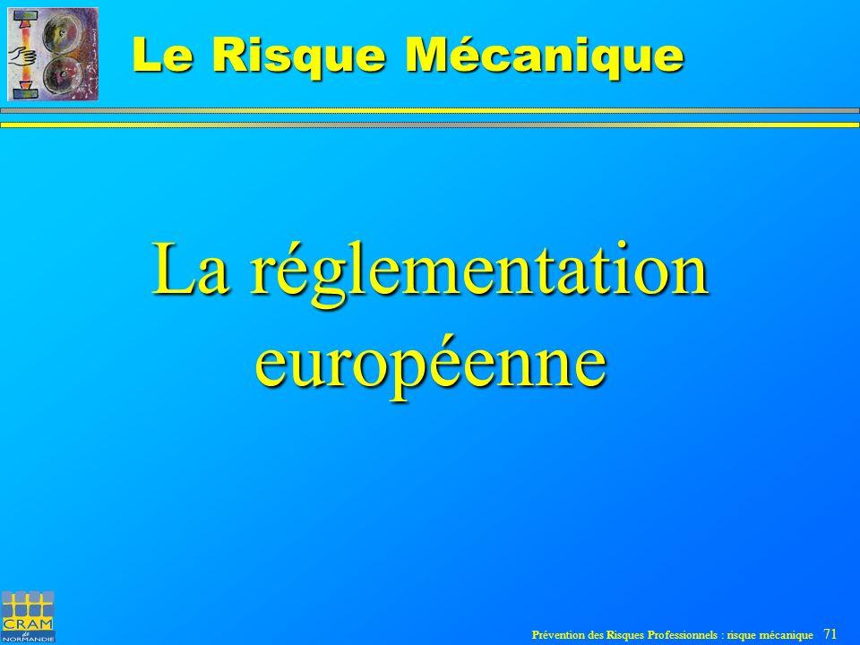 La réglementation européenne