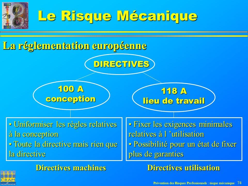La réglementation européenne La réglementation européenne