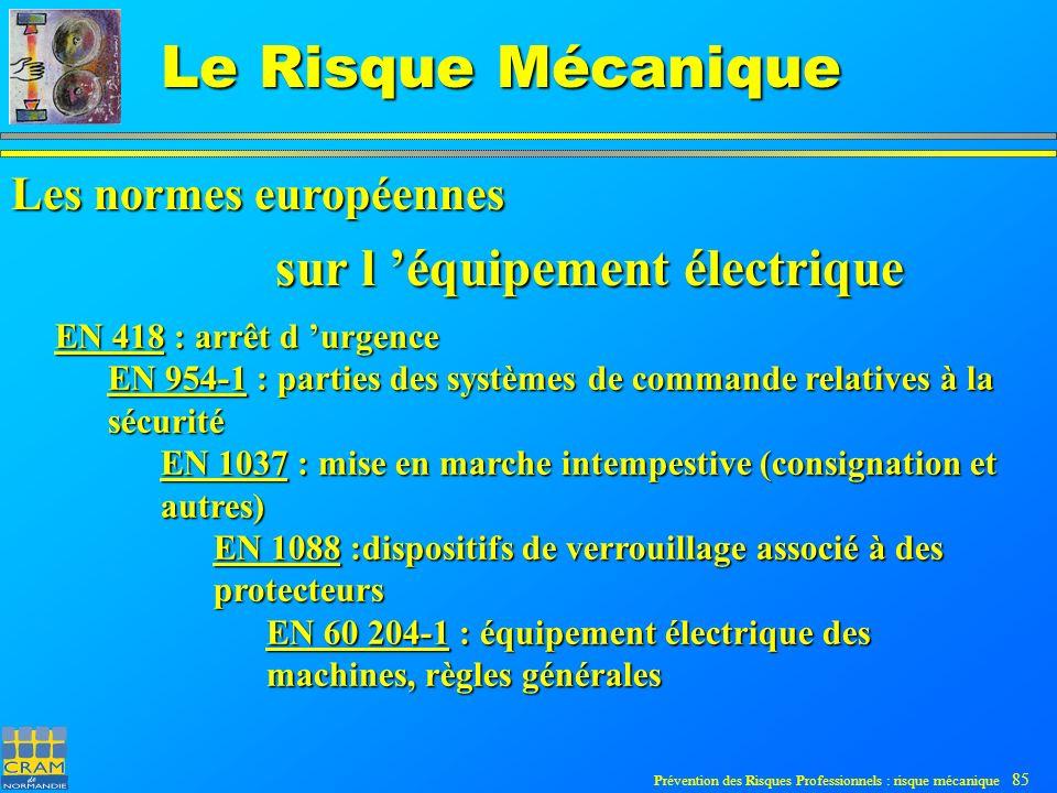 sur l 'équipement électrique