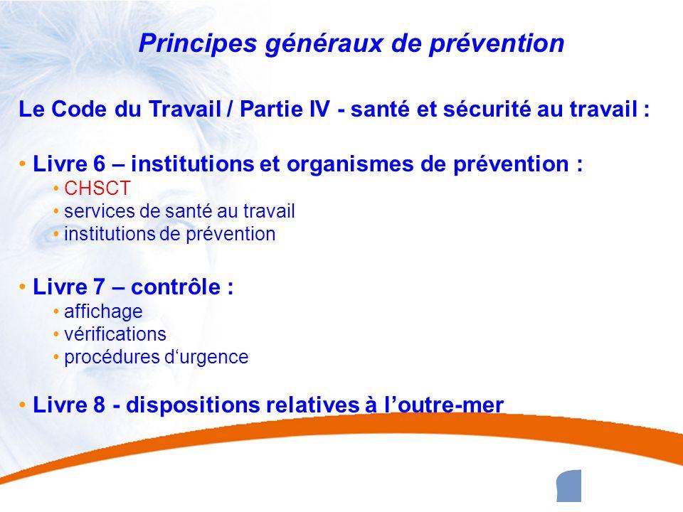 Principes généraux de prévention
