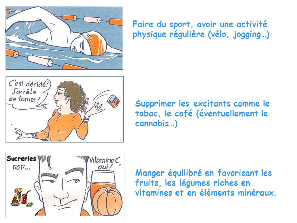 Faire du sport, avoir une activité physique régulière (vélo, jogging…)