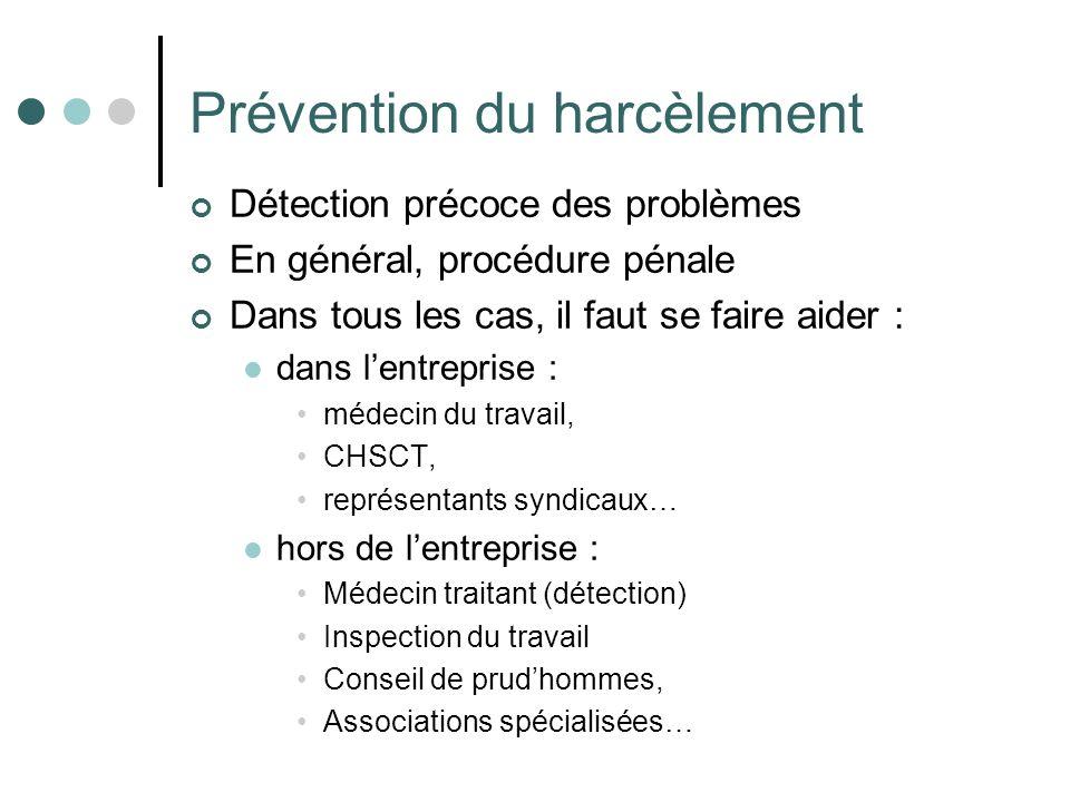 Prévention du harcèlement