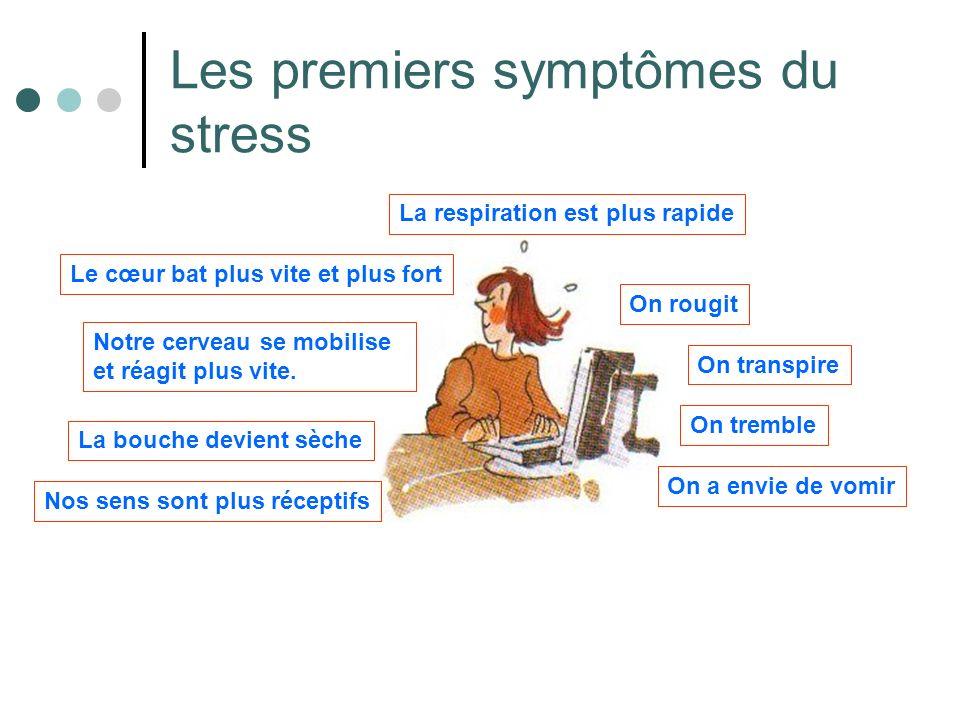 Les premiers symptômes du stress