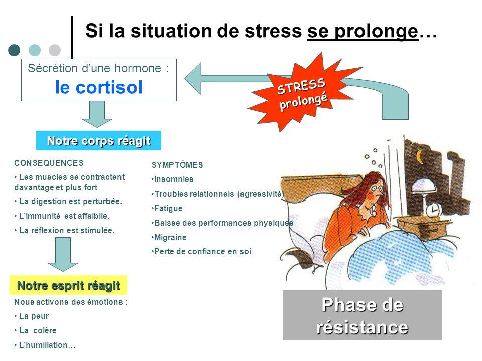 Si la situation de stress se prolonge…