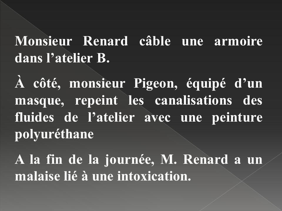 Monsieur Renard câble une armoire dans l'atelier B.