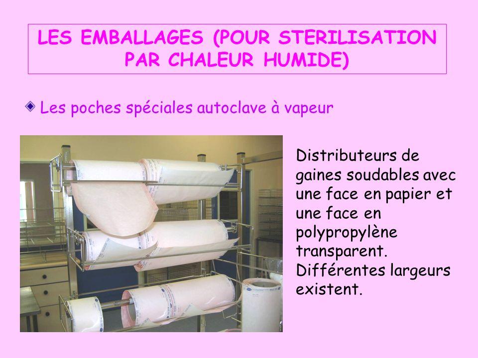 LES EMBALLAGES (POUR STERILISATION PAR CHALEUR HUMIDE)