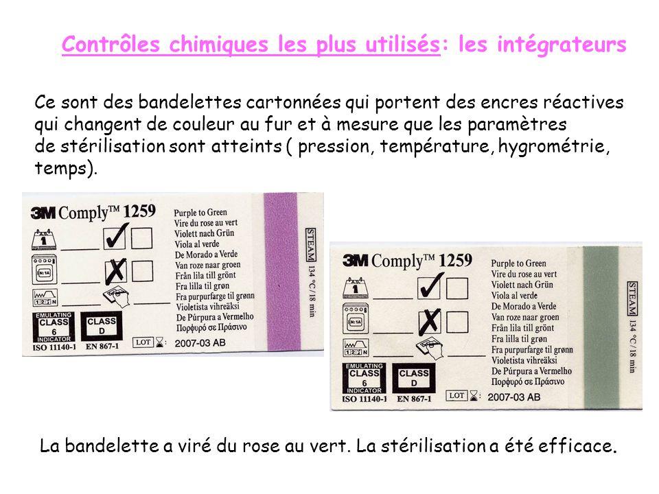 Contrôles chimiques les plus utilisés: les intégrateurs