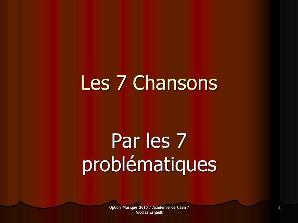 Par les 7 problématiques