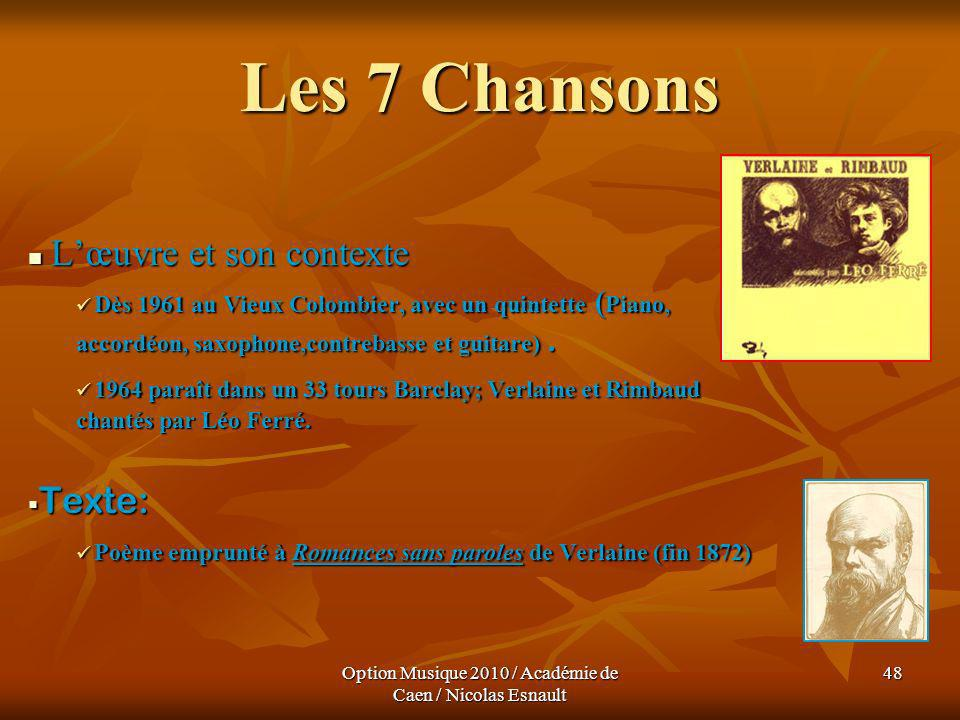 Option Musique 2010 / Académie de Caen / Nicolas Esnault