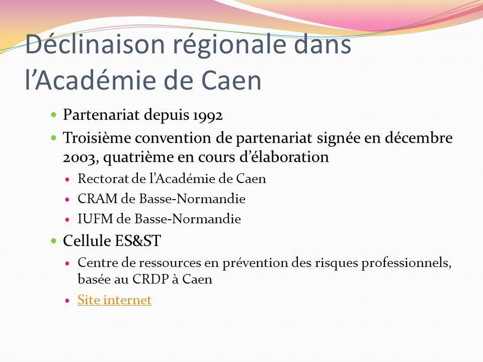 Déclinaison régionale dans l'Académie de Caen