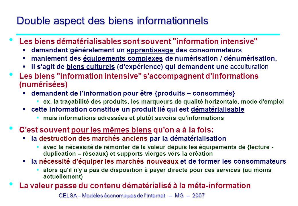 Double aspect des biens informationnels