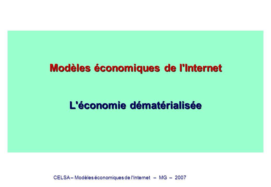 Modèles économiques de l Internet L économie dématérialisée