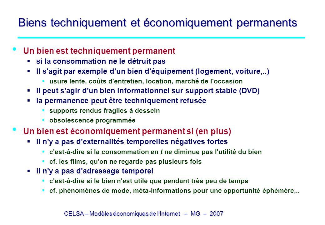 Biens techniquement et économiquement permanents