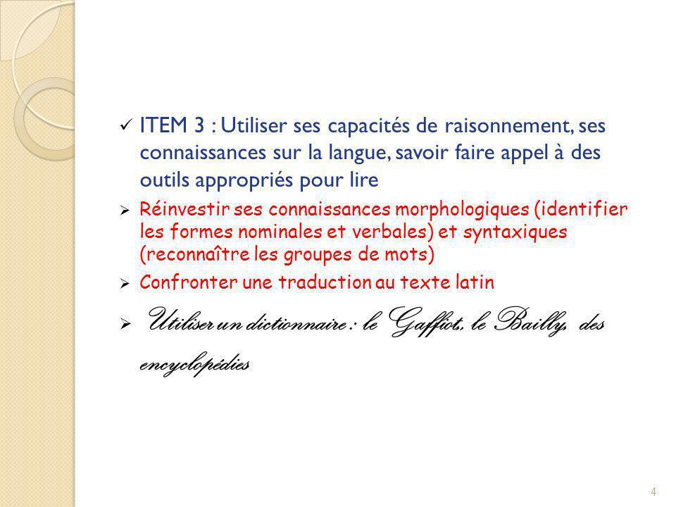Utiliser un dictionnaire : le Gaffiot,, le Bailly, des encyclopédies