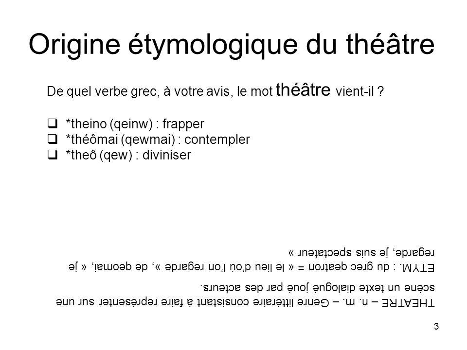 Origine étymologique du théâtre
