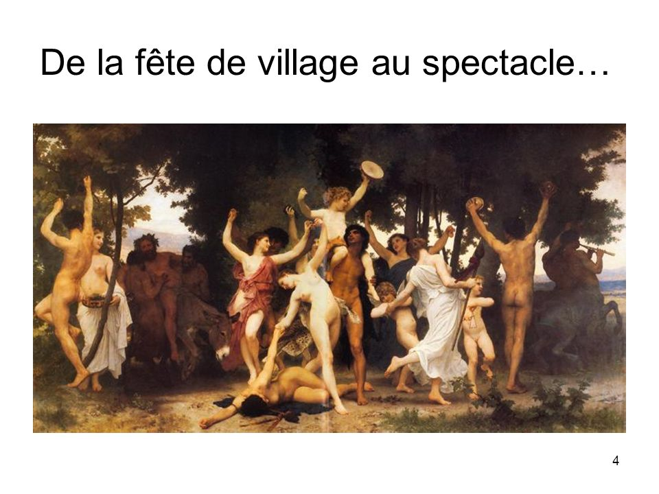 De la fête de village au spectacle…