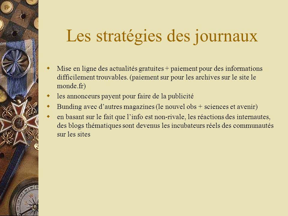 Les stratégies des journaux