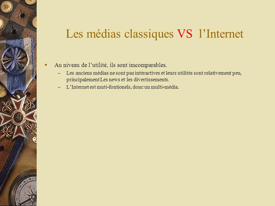Les médias classiques VS l'Internet