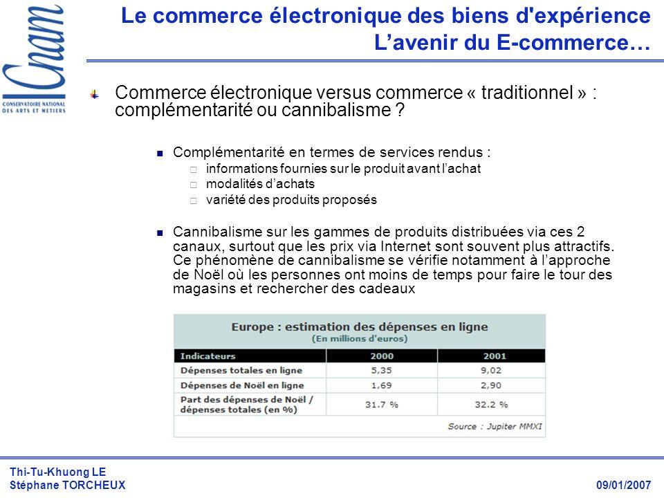Le commerce électronique des biens d expérience L'avenir du E-commerce…