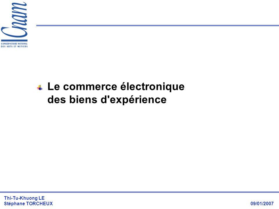 Le commerce électronique des biens d expérience