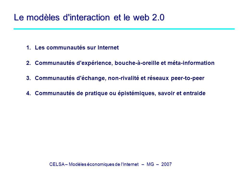Le modèles d interaction et le web 2.0