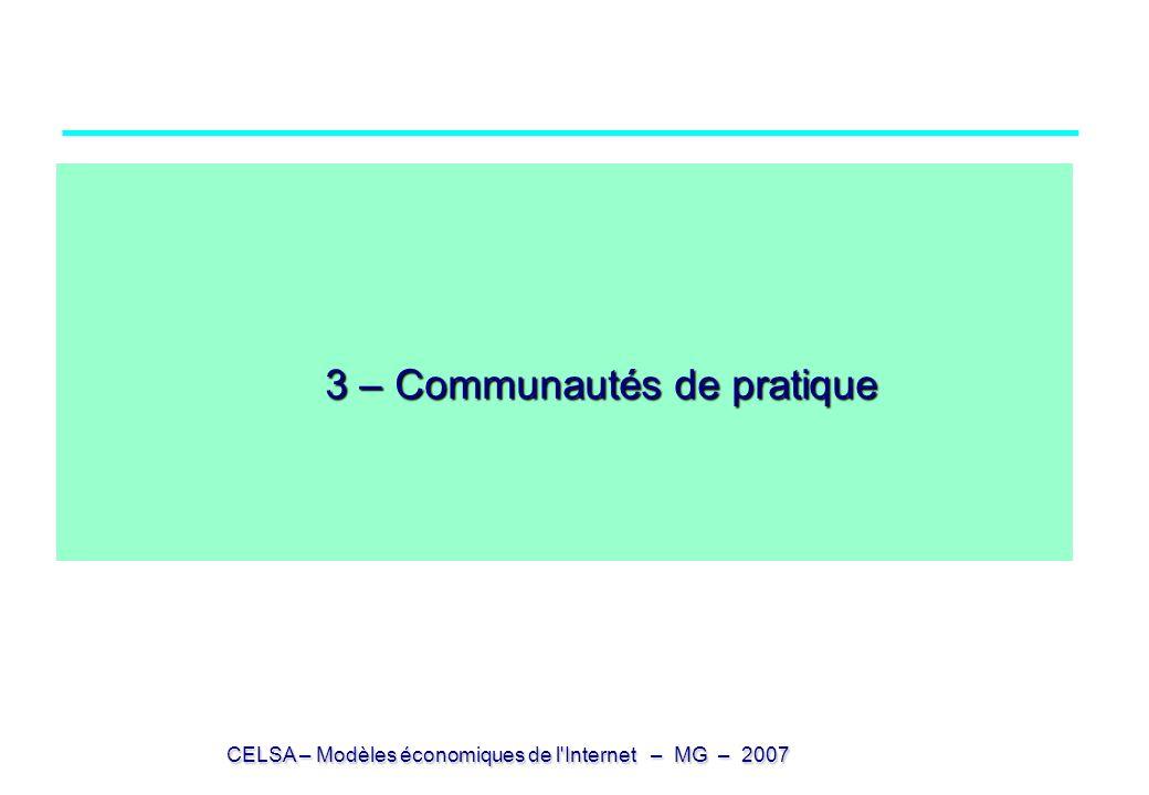 3 – Communautés de pratique