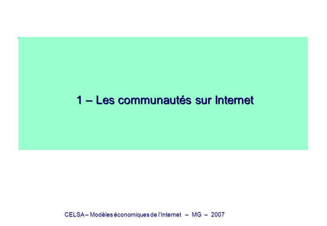 1 – Les communautés sur Internet