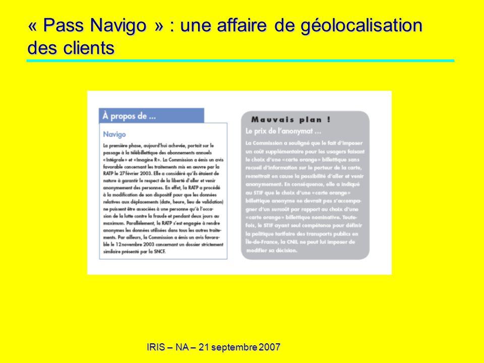 « Pass Navigo » : une affaire de géolocalisation des clients