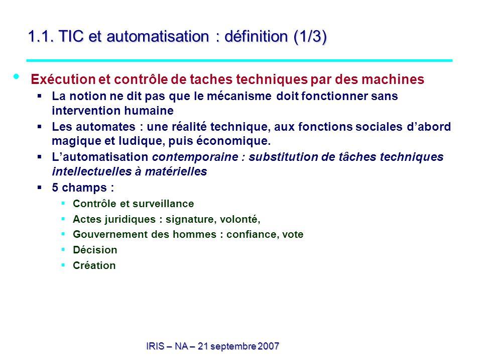 1.1. TIC et automatisation : définition (1/3)