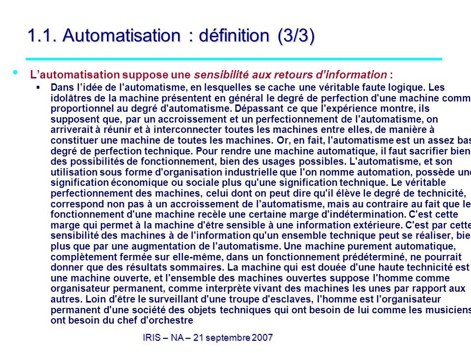 1.1. Automatisation : définition (3/3)