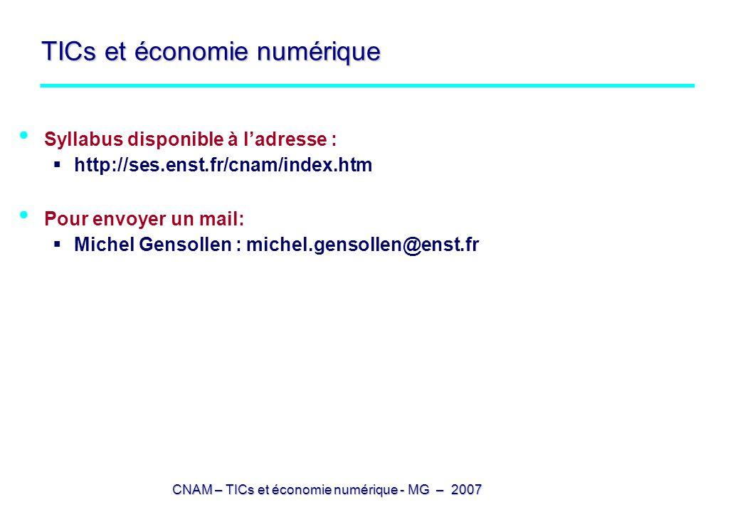TICs et économie numérique