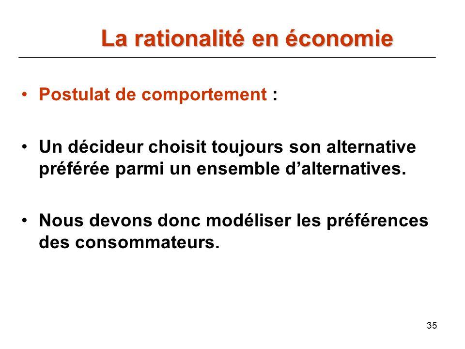 La rationalité en économie