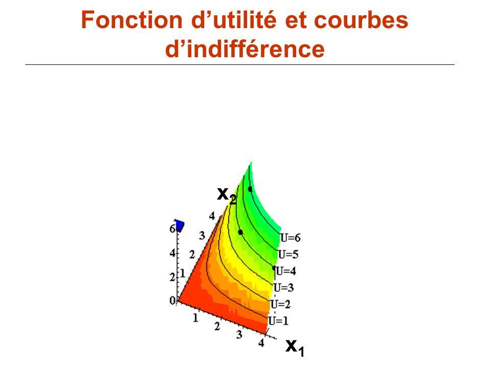 Fonction d'utilité et courbes d'indifférence