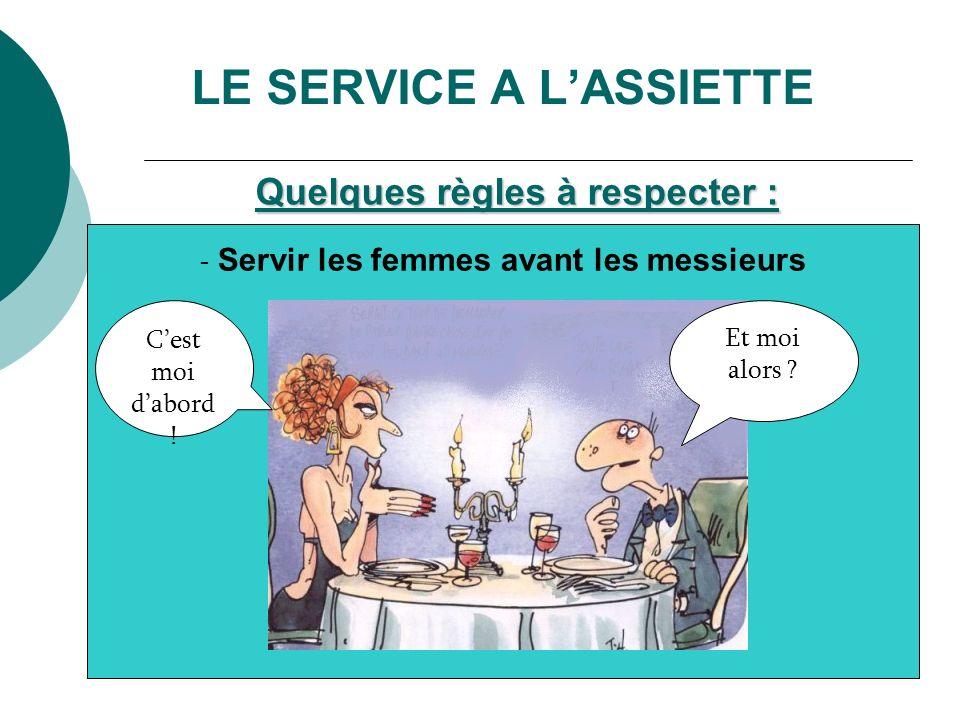 LE SERVICE A L'ASSIETTE