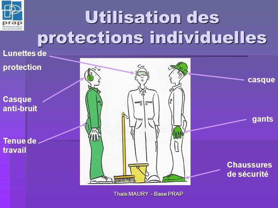 Utilisation des protections individuelles