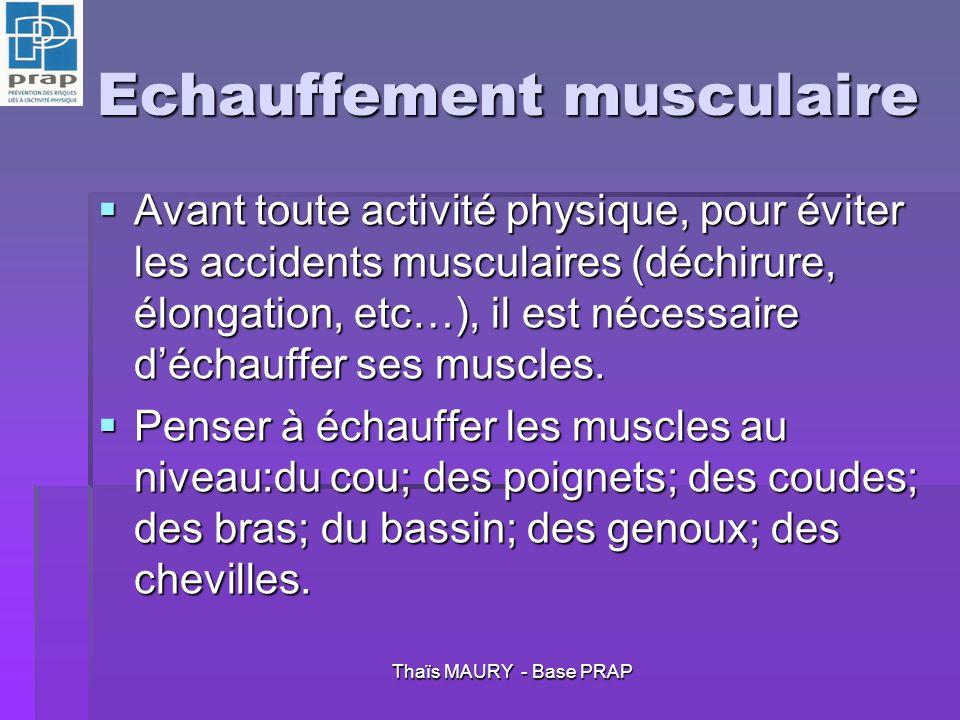 Echauffement musculaire