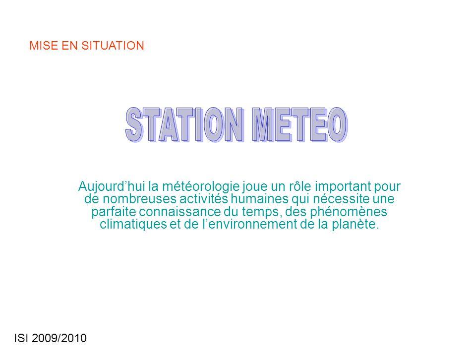 MISE EN SITUATION STATION METEO.