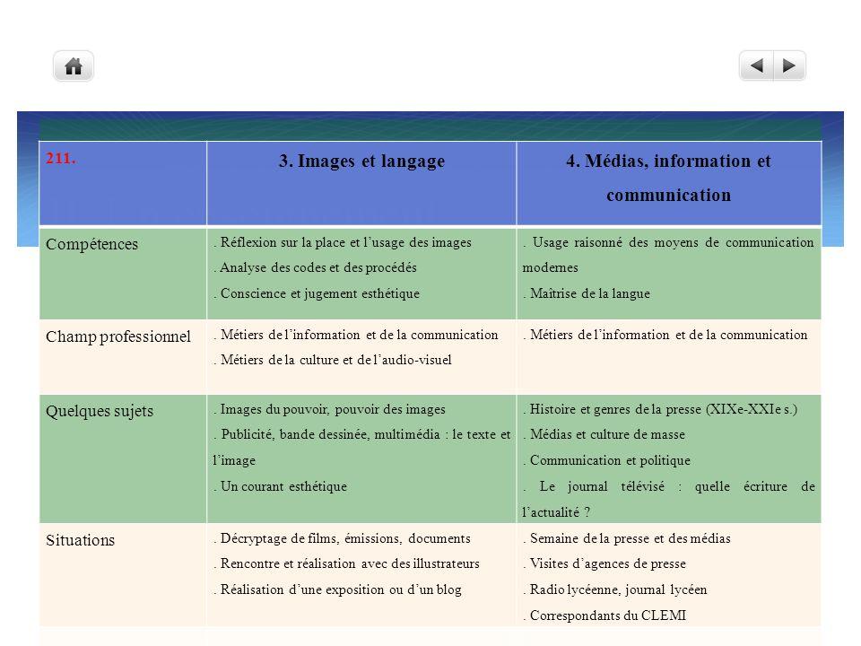 4. Médias, information et communication