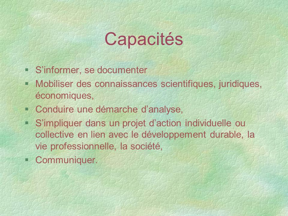 Capacités S'informer, se documenter