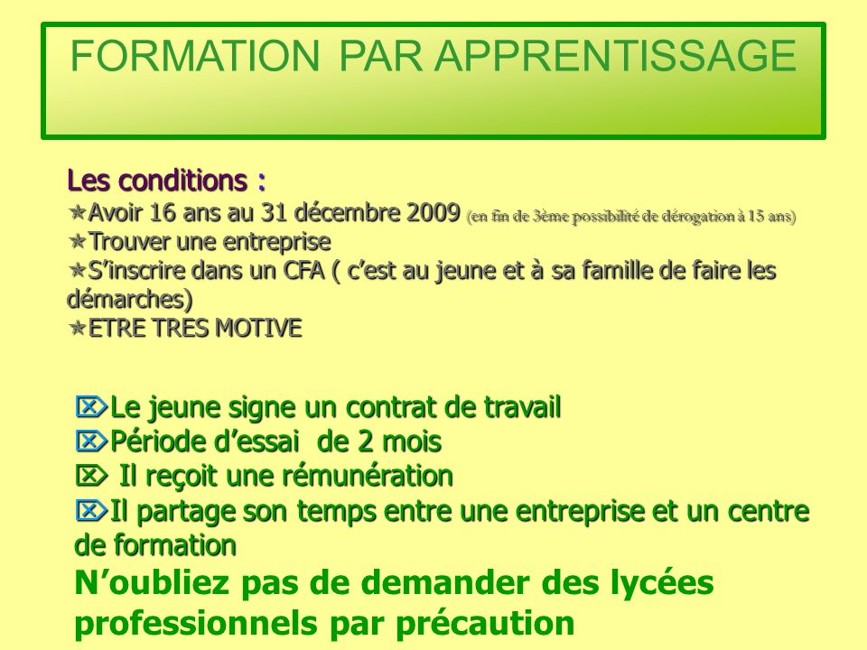 FORMATION PAR APPRENTISSAGE