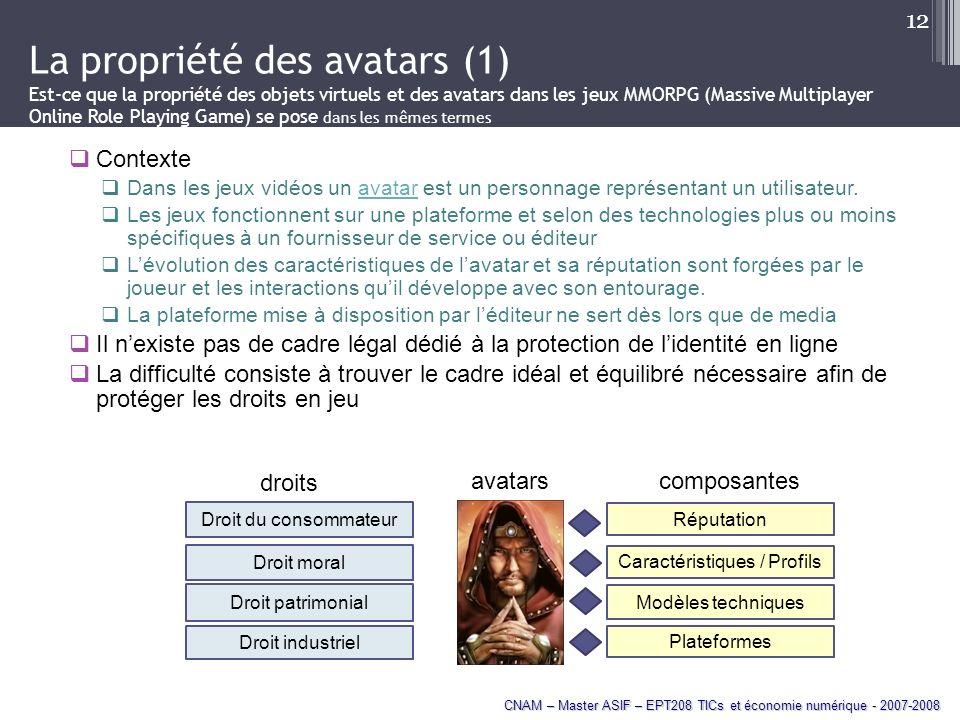 Caractéristiques / Profils
