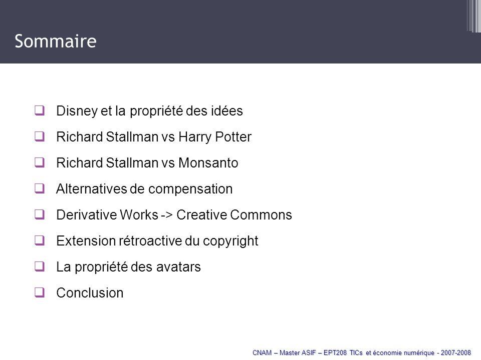 Sommaire Disney et la propriété des idées