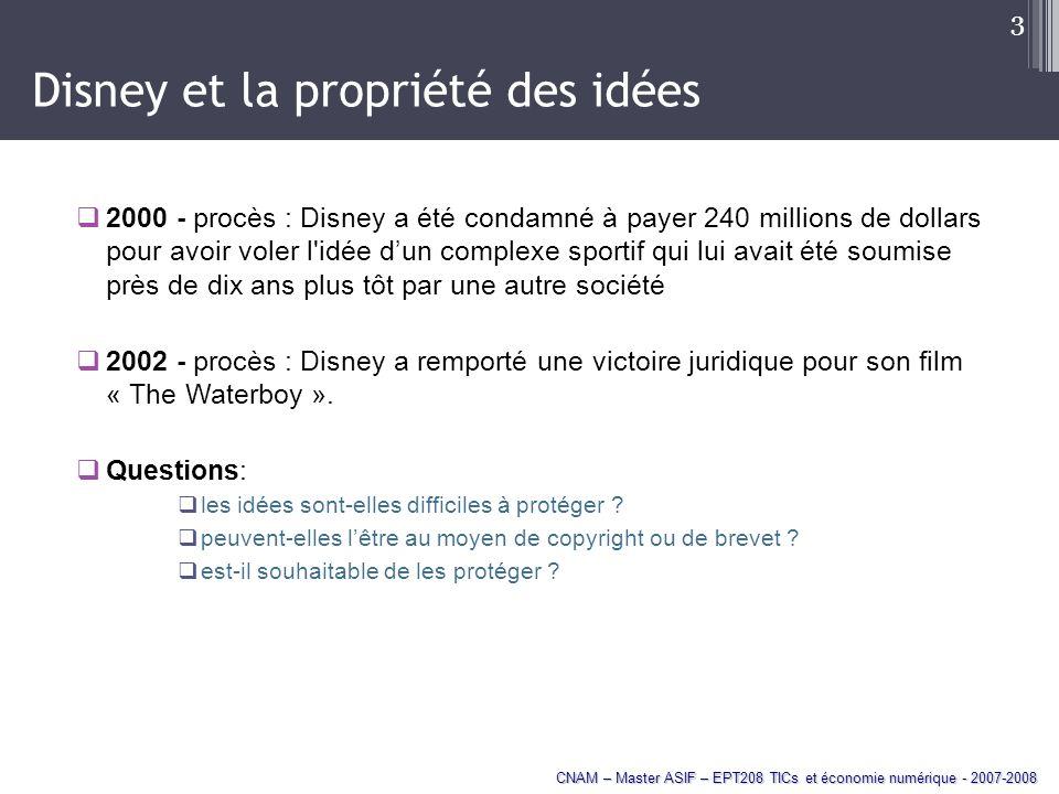 Disney et la propriété des idées