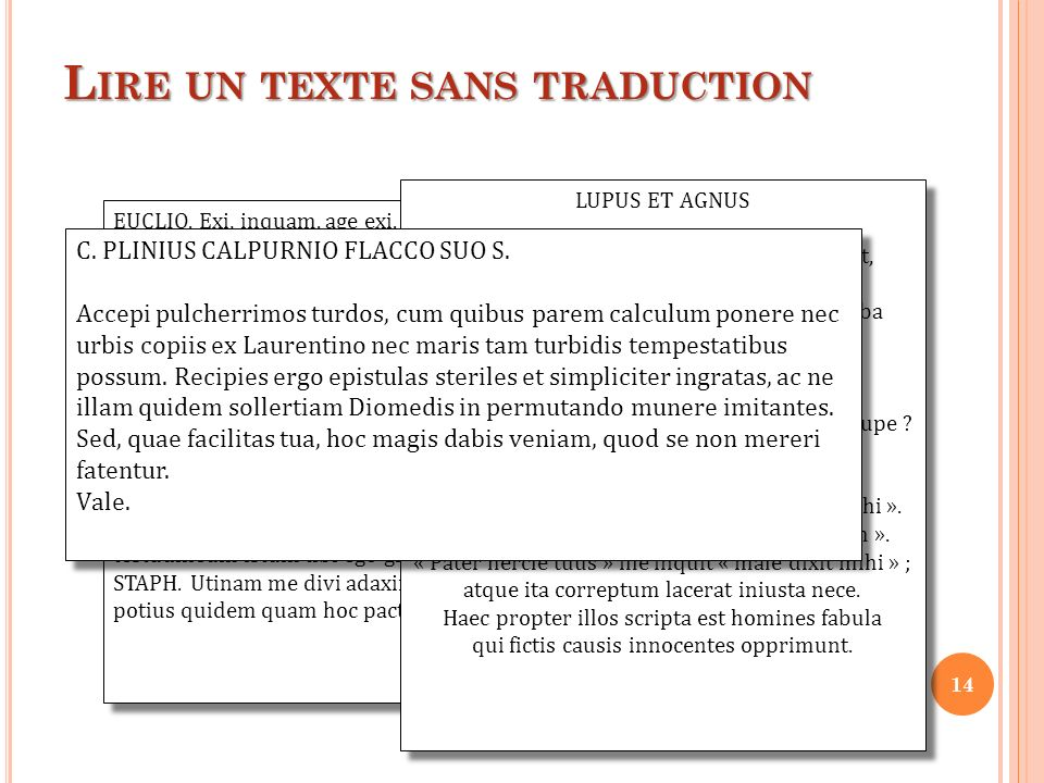 Lire un texte sans traduction