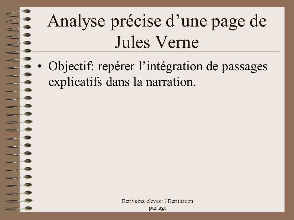 Analyse précise d'une page de Jules Verne